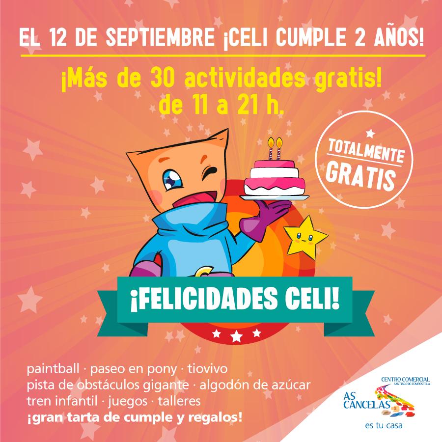 As Cancelas Celi cumpleaños niños fiesta Santiago de Compostela