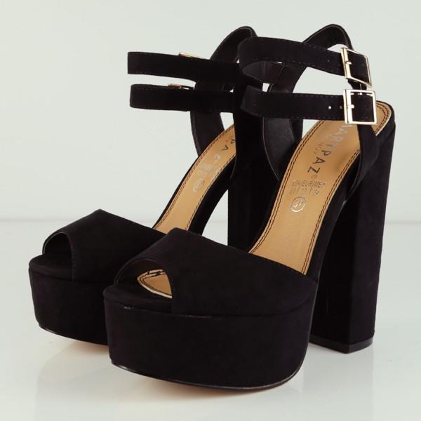 8a38cebbeae As Cancelas Marypaz Santiago de Compostela zapatos Sandalia de tacón y  plataforma con doble hebilla