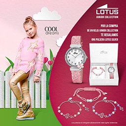 Abrir Time Road te regala una pulsera por la compra de un reloj Lotus