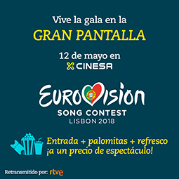 Abrir Cinesa retransmite la gala de Eurovisión 2018