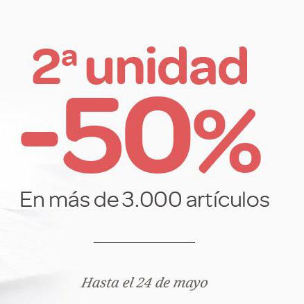 Abrir Un 50% en la segunda unidad en Carrefour