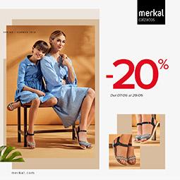 Abrir Presume de zapatos con Merkal Calzados