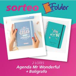 Abrir Sorteamos 2 lotes de bolígrafo y agenda de Folder