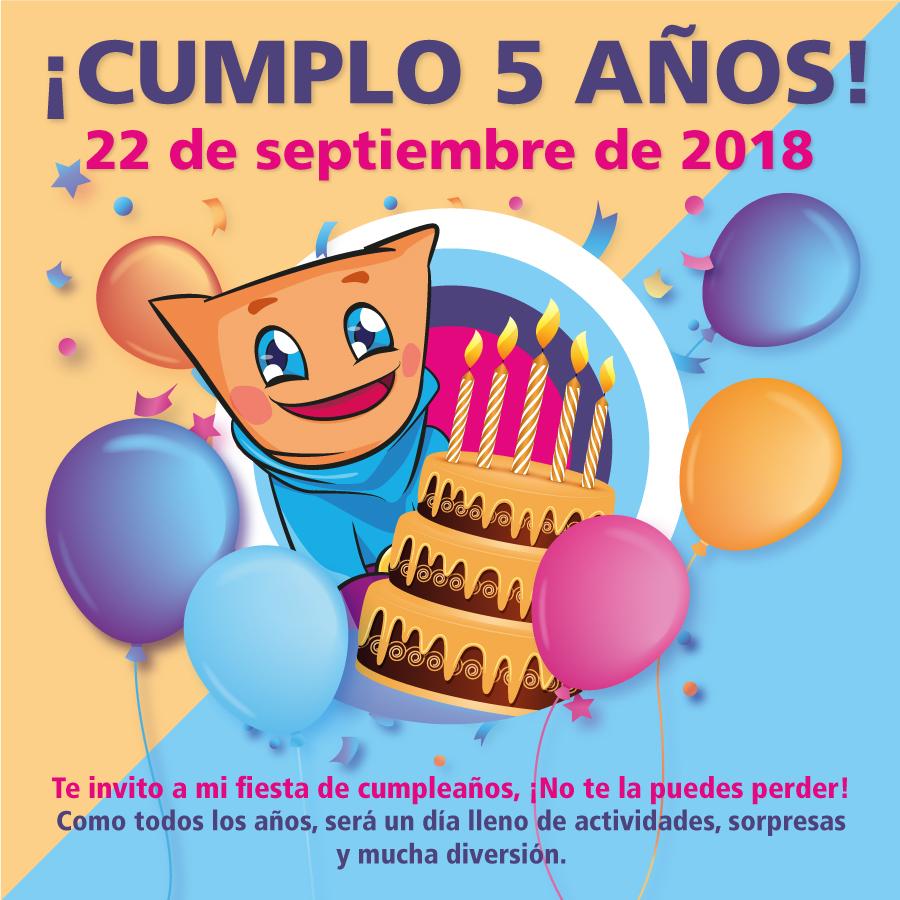 Abrir ¡Celi te invita a su quinto cumpleaños!