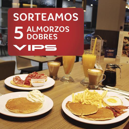 Abrir Sorteamos 5 almorzos dobres en Vips