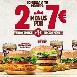 Abrir 2 menús por 7€ Burger King