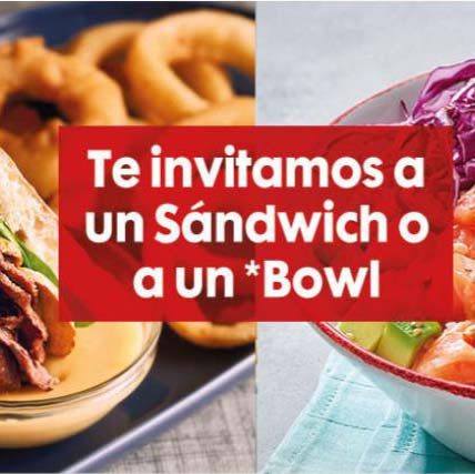 Abrir Vips invítate a un sandwich ou un bowl