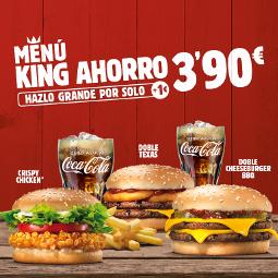 Abrir Burger King trae de volta o Menú King Ahorro por 3,90€