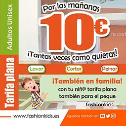 Abrir Aproveita a tarifa plana de FashionKids para toda a familia