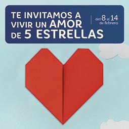 Abrir Este San Valentín, ¡te invitamos a vivir un amor de 5 estrellas!