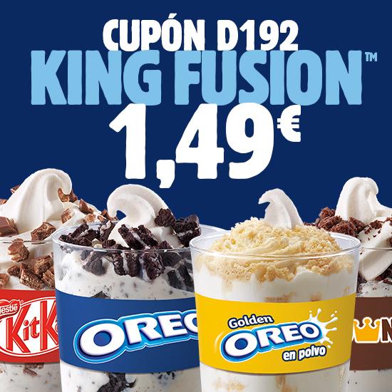 Abrir Delicioso King Fusion en Burger King