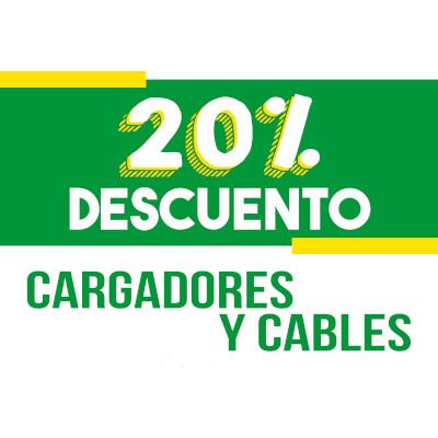 Abrir 20% de descuento en la compra de tu cargador de cable