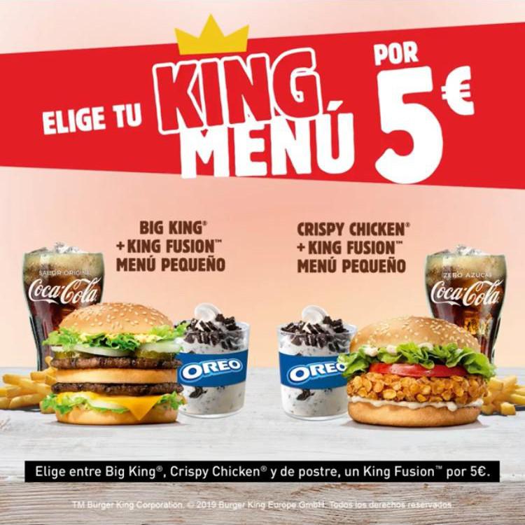 Abrir Desfruta dos deliciosos menús King en Burger King