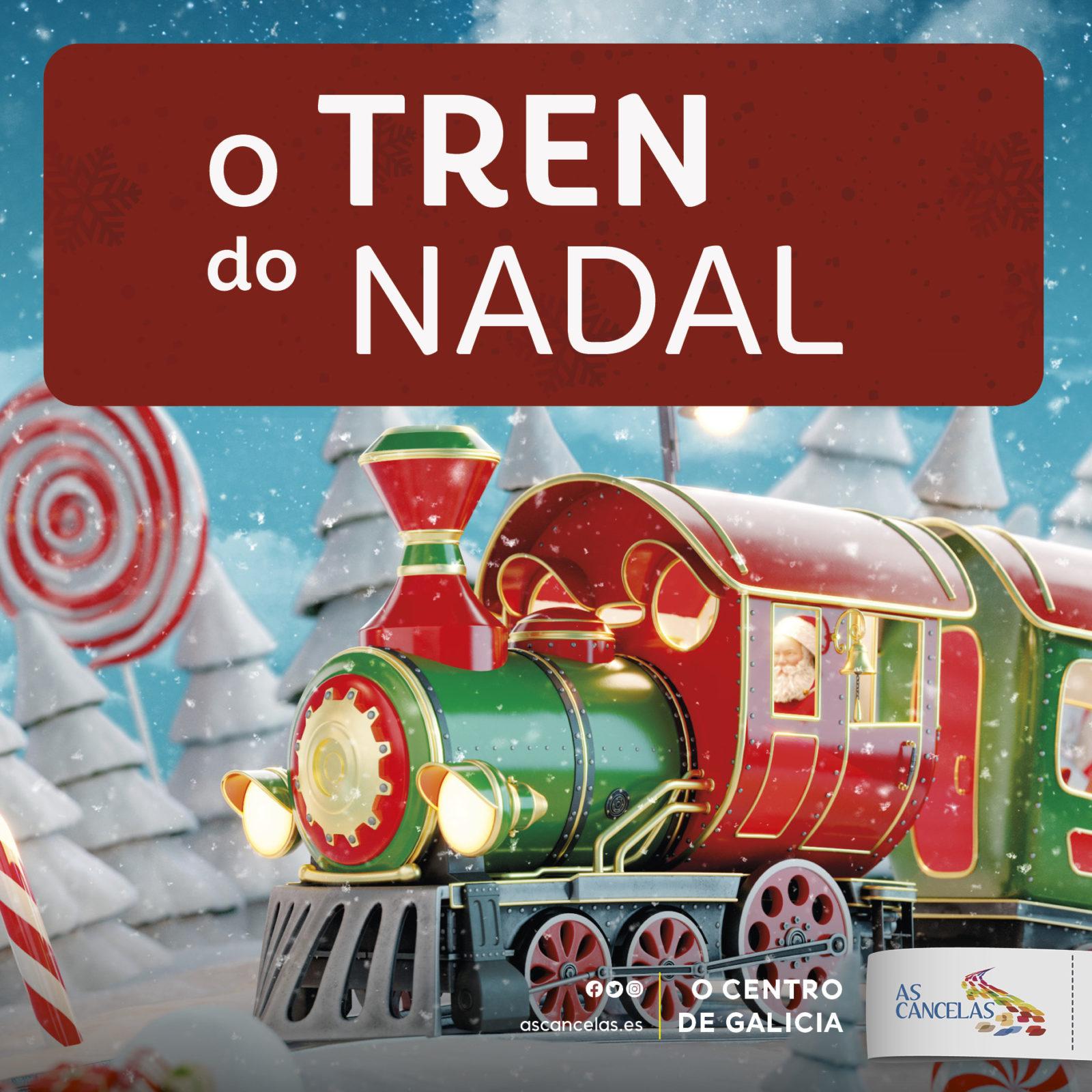 Abrir O tren do Nadal chega a As Cancelas