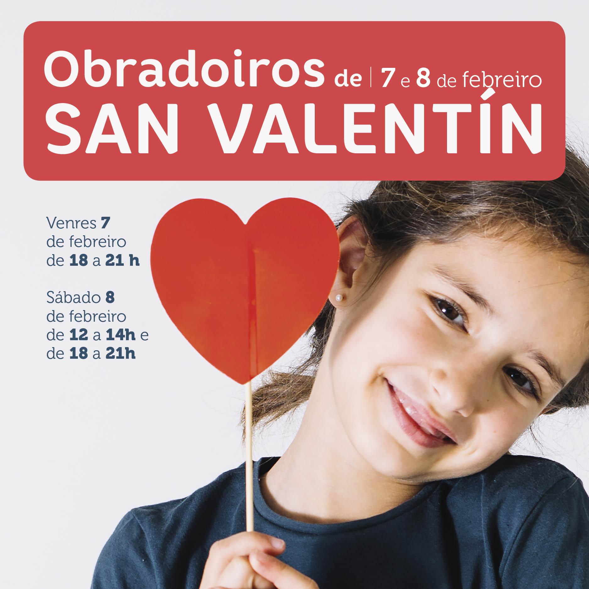 Abrir 7 e 8 de febreiro: obradoiros infantís de San Valentín