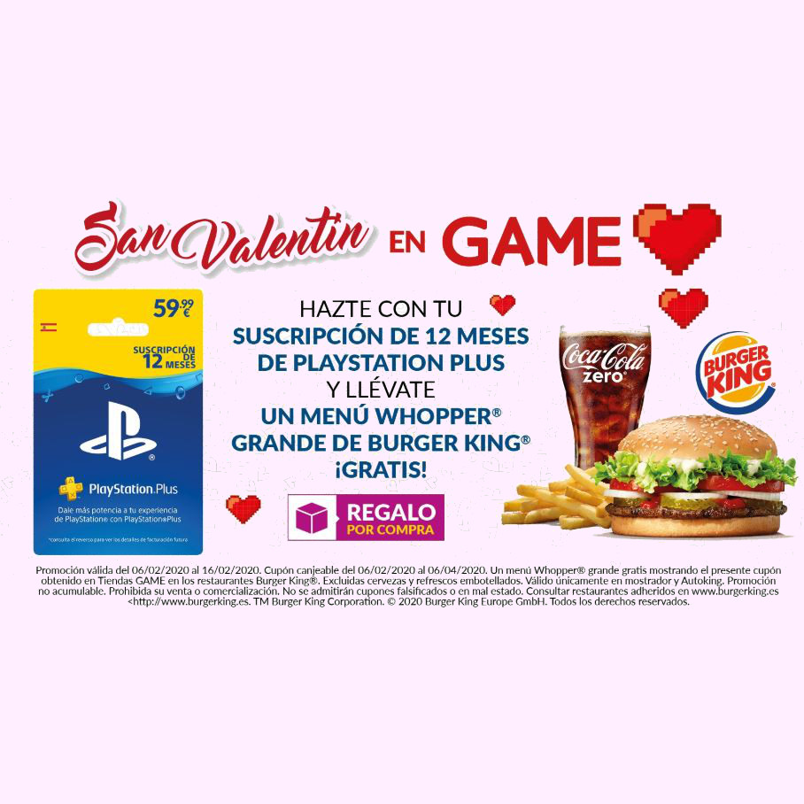 Abrir Disfruta del mejor San Valentín con GAME