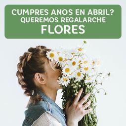 Abrir Cumpres anos en abril? Regalámosche flores para celebralo!