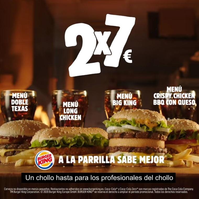 Abrir Elixe os teus menús co delicioso 2×7€ en Burger King