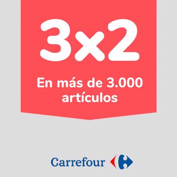 Abrir Paga menos co fantástcio 3×2 de Carrefour