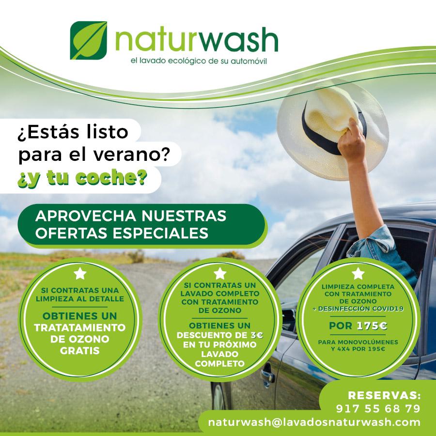 Abrir Cuida o teu coche coas incribles ofertas de Naturwash