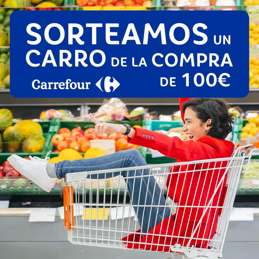 Abrir Sorteamos 1 carro de la compra valorado en 100€ de Carrefour