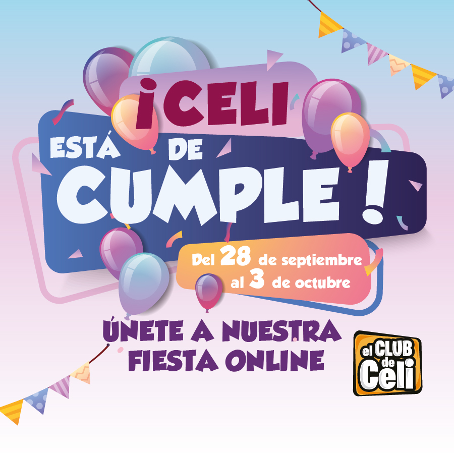 Abrir Celebra con nosotros el cumple online de Celi