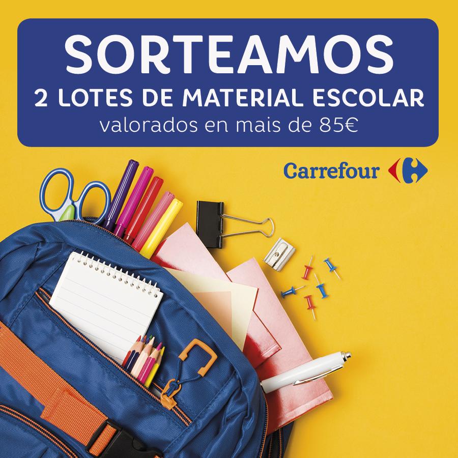 Abrir Sorteamos 2 lotes de material escolar de máis de 85€