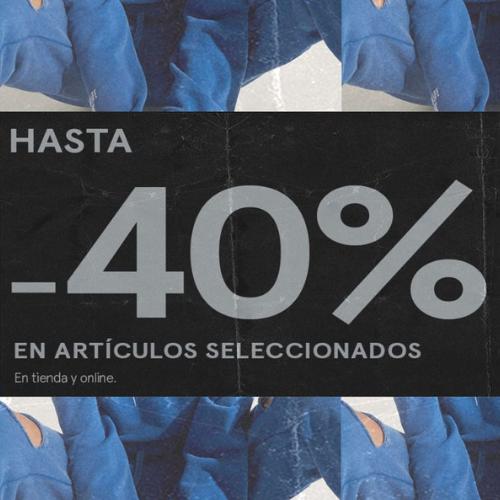 Abrir 40% de desconto en artigos seleccionados en Bershka