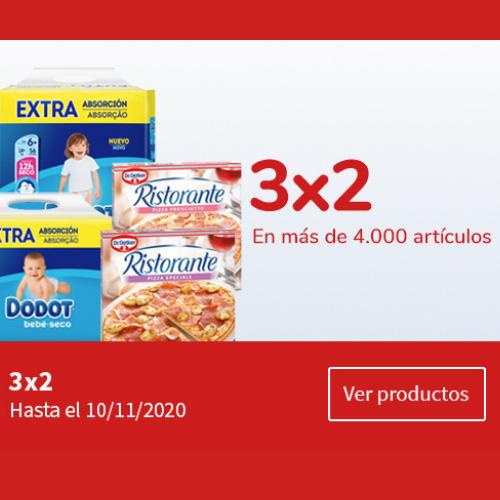 Abrir 3×2 nos teus produtos favoritos de Carrefour As Cancelas