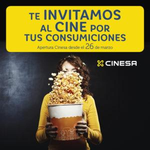 Abrir Consigue entradas de cine gratis con tus consumiciones