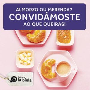 Abrir Convidámoste a un almorzo ou merenda polas túas  tickets de compra!