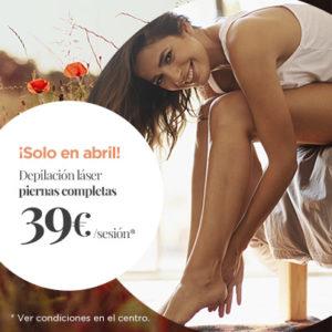 Abrir Depila as pernas por tan so 39€/sesión en Centros Único