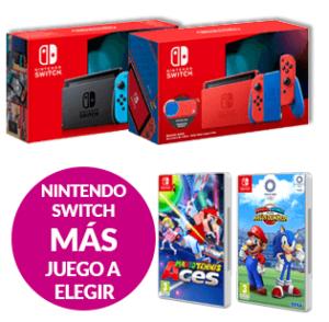 Abrir Consigue a túa Nintendo Switch + xogo de Mario por 349,95€