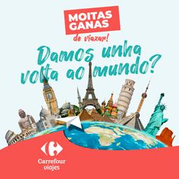 Abrir Participa cos teus tickets no sorteo dunha volta ao mundo