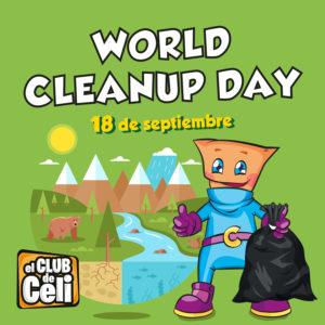 Abrir ¡Únete a Celi en el World Cleanup Day!