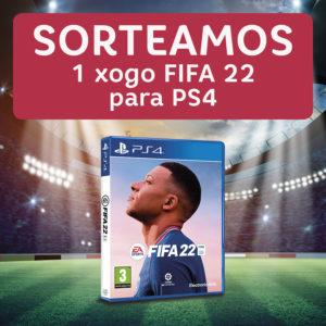 Abrir Sorteamos o FIFA 22 para a Play Station 4!