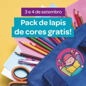 Abrir Volta ao cole: Consegue un pack de lapis de cores gratis